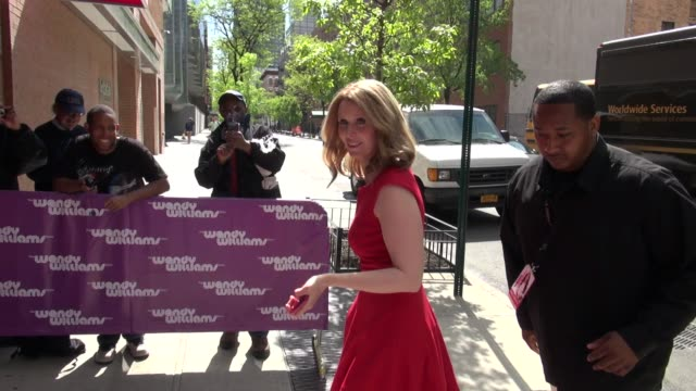 cynthia nixon at 'the wendy williams show' studio cynthia nixon at 'the wendy williams show' studio on april 18 2012 in new york new york - cynthia nixon stock videos and b-roll footage
