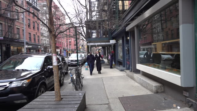 cynthia nixon is seen in soho on march 27 2018 in new york city - cynthia nixon stock videos and b-roll footage