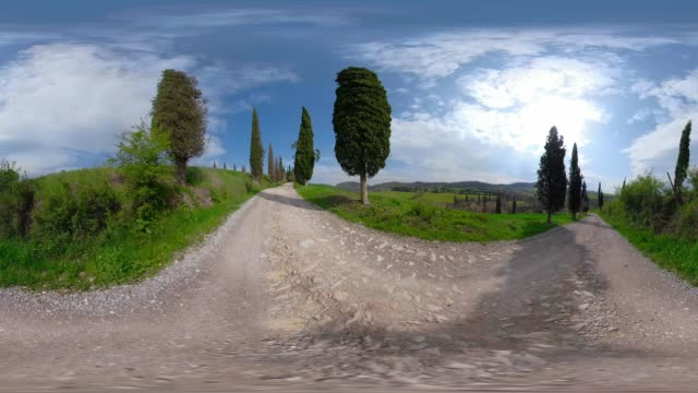 360 vr / cypress avenue in tuscany hills - 360 video stock videos & royalty-free footage