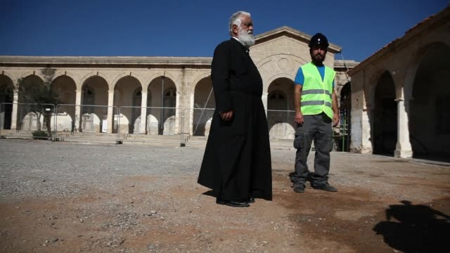 cypriot media were given a tour on tuesday of renovation works at the apostolos andreas monastery in the karpas peninsula in the turkish occupied... - peninsula stock videos & royalty-free footage