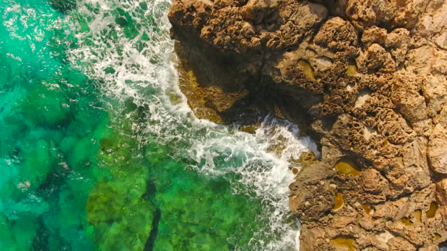 Cyprus, Ayia Napa. Aerial View. Beautiful landscape and sea waves.