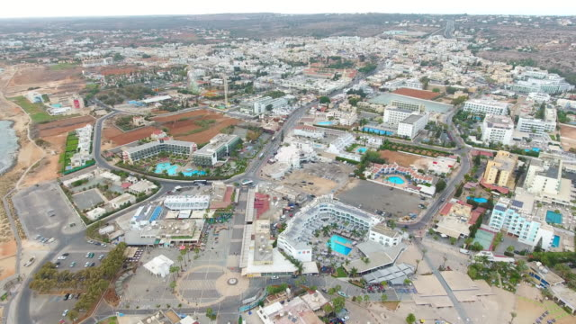 cyprus, ayia napa. cityscape. panoramic view of the city. - celebrity sightings stock videos & royalty-free footage