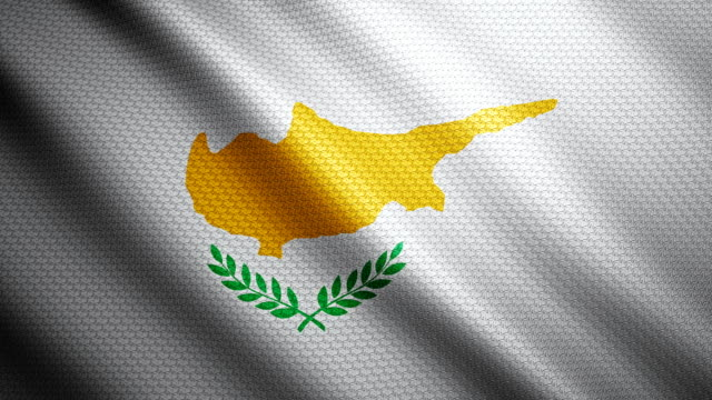 cyprus flag 4k - republic of cyprus stock videos and b-roll footage