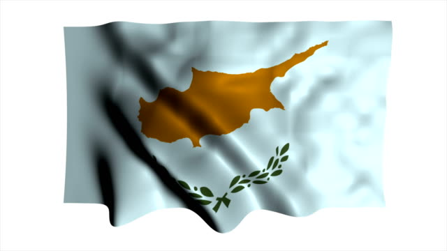 cyprus flag waving - waving icon stock videos & royalty-free footage