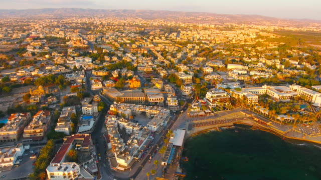 Cyprus, Paphos. Aerial View. Beautiful scenery of Paphos.