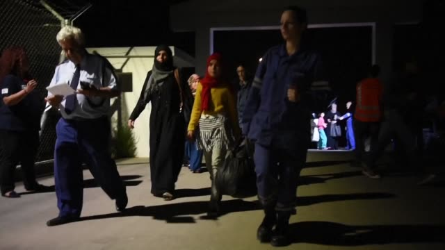 cyprus police rescued 123 migrants believed to be syrians who were left adrift off the island's northwest coast by a boatman who made off on a jet... - thursday stock videos & royalty-free footage