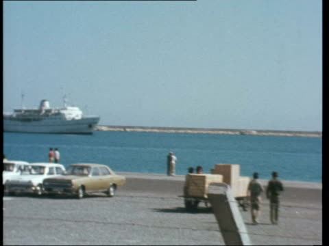 Limassol SOUTHGATE SOF The Government of Cypruslike this one TS Greeks stand PAN and ZOOM in to ferry at quayside MS Interior exchange office and...