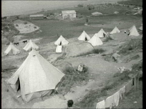 """kokkina refugee camp / archbishop makarios interview; a) cyprus: kokkina: ext seymour: sof: - : """"this is where greek cypriot held territory ends and... - last stock videos & royalty-free footage"""