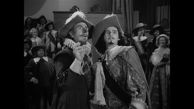 Cyrano De Bergerac (José Ferrer) schools one of his enemies on the art of ridicule