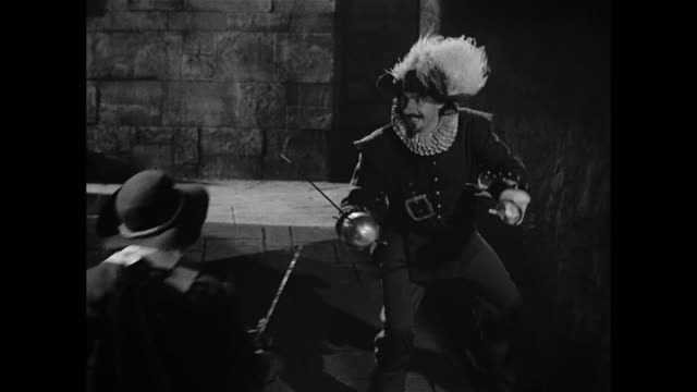 cyrano de bergerac (josé ferrer) survives a gang attack - knife weapon stock videos and b-roll footage