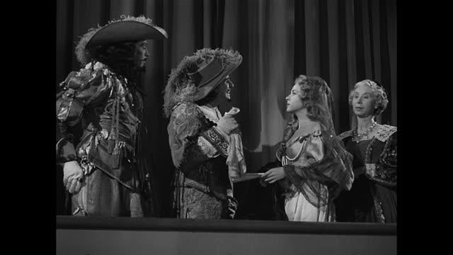 cyrano de bergerac's cousin challenges his adversaries - cyrano de bergerac stock-videos und b-roll-filmmaterial