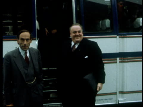 cyril smith arrives to parliament england london ms smith off coach to thorpe and waves turns and helps mother off ms side of press ms smith in crowd... - house of commons stock videos & royalty-free footage