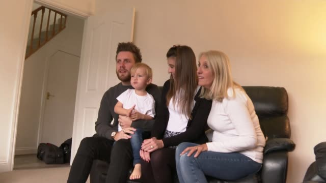 cystic fibrosis patients finally given access to life-extending orkambi drug; england: int general views of carlie pleasant with family. - cystic fibrosis stock videos & royalty-free footage