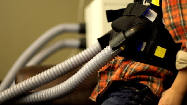 cystic fibrosis vest slow motion - cystic fibrosis stock videos & royalty-free footage