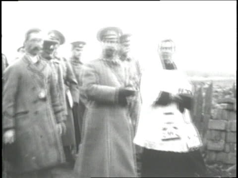 czar nicholas ii salutes russian soldiers during a review - 1916 stock videos & royalty-free footage
