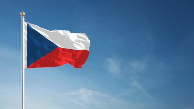 vídeos y material grabado en eventos de stock de 4 k bandera checa-en bucle - república checa