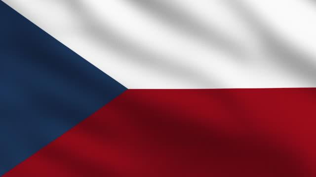 czech flag - eastern european culture stock videos & royalty-free footage