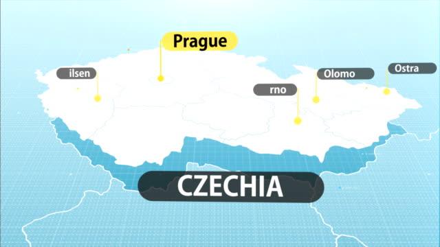 tschechische karte - tschechische kultur stock-videos und b-roll-filmmaterial
