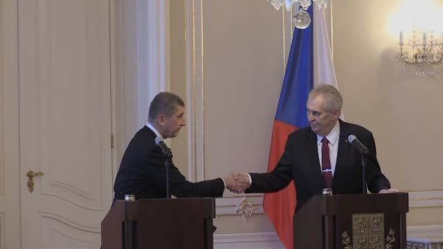 czech prime minister andrej babis hands the resignation of his minority government to president milos zeman a political ally who immediately asks the... - populism stock videos & royalty-free footage