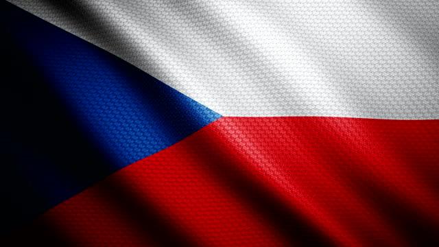 czech republic flag 4k - czech republic stock videos and b-roll footage