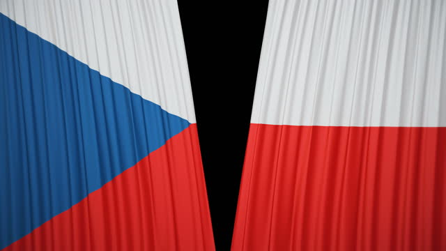 czech republic flag curtain cloth - traditionally czech stock videos & royalty-free footage