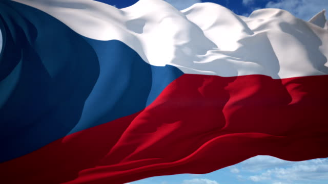 czech republic flag - bohemia czech republic stock videos & royalty-free footage