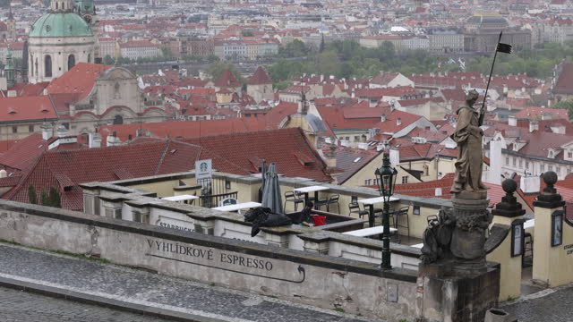 stockvideo's en b-roll-footage met czech republic reopens its cafe and restaurant terraces, in stare mesto, prague, czech republic, on monday, may 17, 2021. - stare mesto