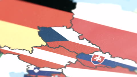 czech republic with national flag on world map - czech republic stock videos & royalty-free footage