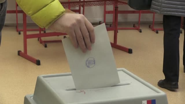 Czechs vote on the second day of the presidential election in Prague with the pro Russian President Milos Zeman leading the polls and heading for a...