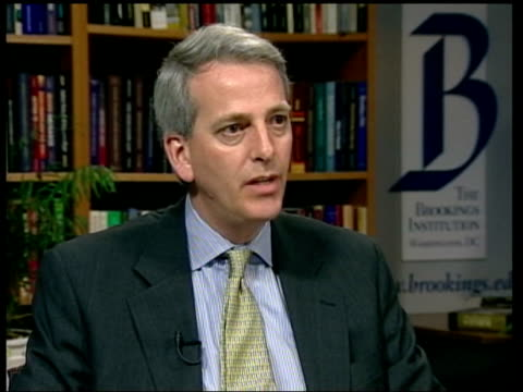 daalder interviewed sot possibility of a 'train wreck' - channel 4 news stock videos and b-roll footage