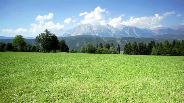 dachstein mountain range - dachstein mountains stock videos and b-roll footage