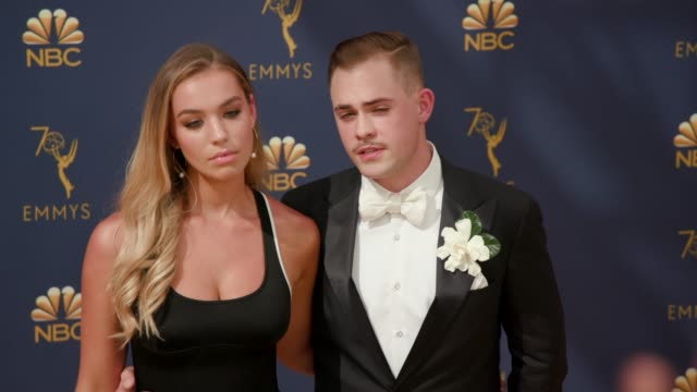 Dacre Montgomery and Liv Pollock at the 70th Emmy Awards Arrivals at Microsoft Theater on September 17 2018 in Los Angeles California
