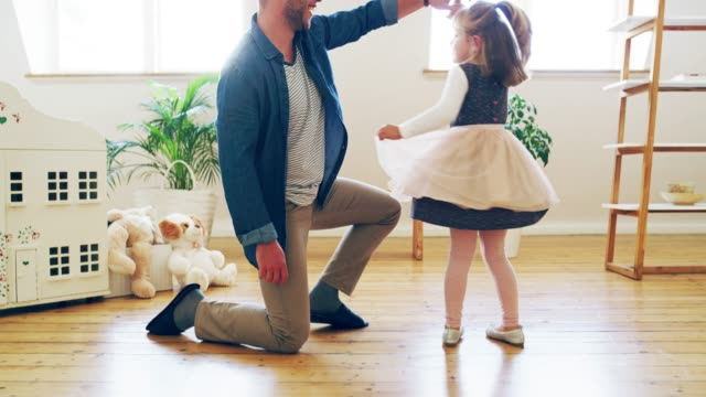 dad loves her tu-tu much! - dress stock videos & royalty-free footage
