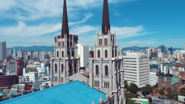 vídeos y material grabado en eventos de stock de daegu jeil church / jung-gu, daegu, south korea - señal de nombre de calle