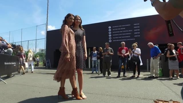 Dagmar Koegel and daughter Alana Siegel attends the Minx by Eva Lutz show during the MercedesBenz Fashion Week Berlin Spring/Summer 2017 at Erika...