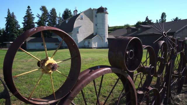 dahmen barn palouse - palouse stock videos & royalty-free footage