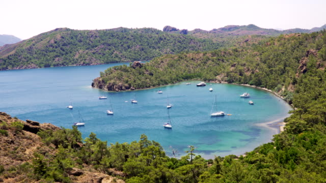 daily boat trip. blue voyage. marmaris / turkey, 4k, time lapse. - marmaris stock videos & royalty-free footage
