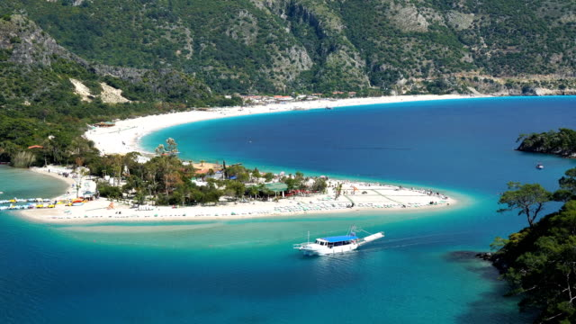 daily boat trip. blue voyage. - oludeniz stock videos and b-roll footage