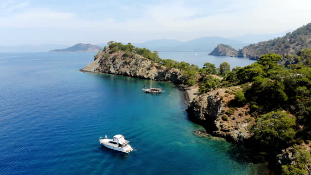 daily boat trip. blue voyage. - fethiye stock videos and b-roll footage