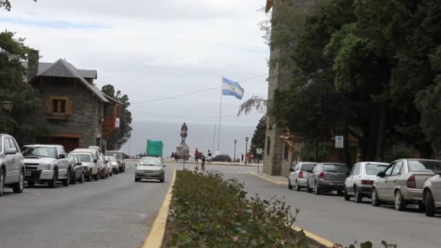 daily life in bariloche in patagonia - roca video stock e b–roll