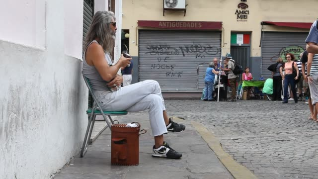 daily life in buenos aires - san telmo stock videos & royalty-free footage