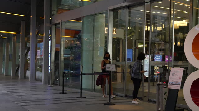 stockvideo's en b-roll-footage met daily life in singapore as it moves toward lockdown with rise in virus cases, in singapore, on sunday, may 16, 2021. singapore is returning to the... - dog run