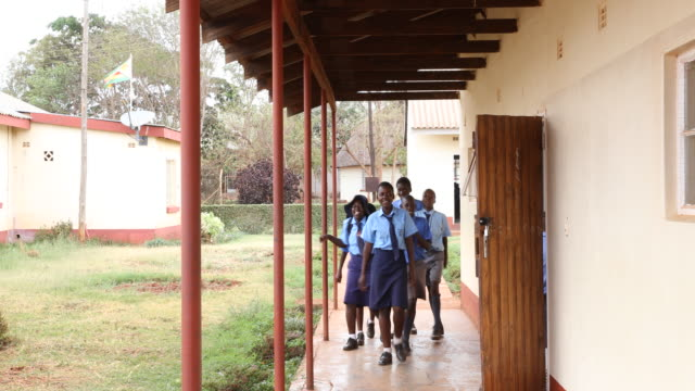 daily life in zimbabwe - school uniform stock videos and b-roll footage