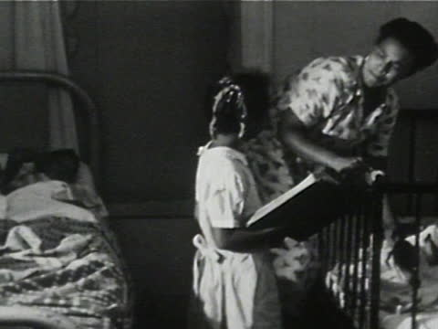 daily life of an african american family in gainesville, georgia, 1950's - 7 of 27 - bedtime stock videos & royalty-free footage