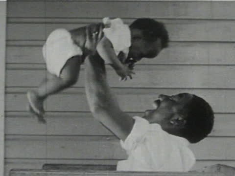 daily life of an african american family in gainesville, georgia, 1950's - 14 of 27 - アメリカ黒人の歴史点の映像素材/bロール