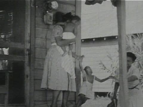 daily life of an african american family in gainesville, georgia, 1950's - 17 of 27 - アメリカ黒人の歴史点の映像素材/bロール