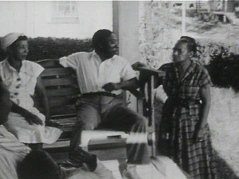 daily life of an african american family in gainesville, georgia, 1950's - 20 of 27 - アメリカ黒人の歴史点の映像素材/bロール