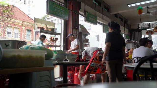daily life of food stalls in kuala lumpur, malaysia - kuala lumpur stock videos & royalty-free footage