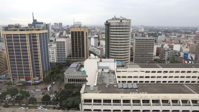 daily life skylines market activities central business district banking in nairobi kenya on friday july 13 2018 - nairobi stock videos and b-roll footage