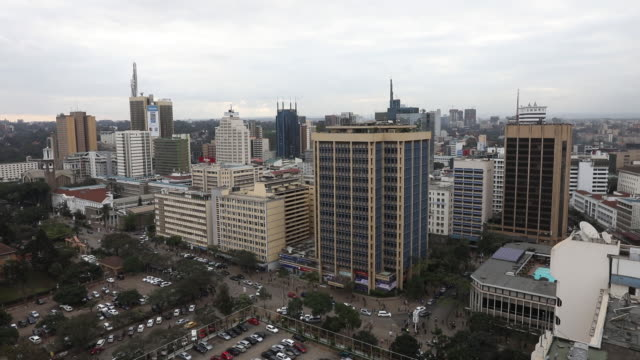 daily life skylines market activities central business district banking in nairobi kenya on friday july 13 2018 - personal land vehicle stock videos & royalty-free footage